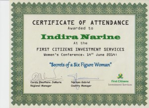 Cert of Attendance - First Citizens I Narine 001