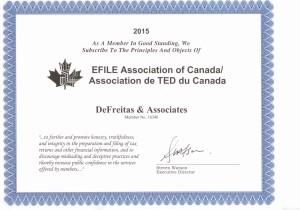 D&A Efile 2015 Efile Association Membership 001